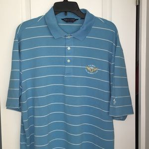 2012 US Open Olympic Club Blue stripe golf shirt